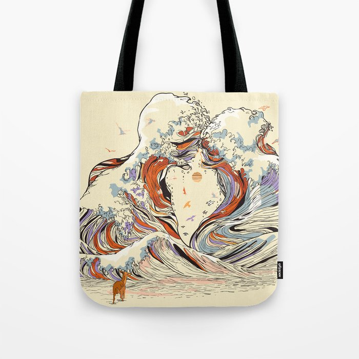 The Wave of Love Tote Bag