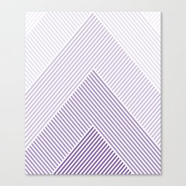 Shades of Purple Abstract geometric pattern Canvas Print
