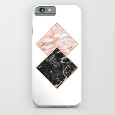 Diamond rose gold marble - copper gilded Slim Case iPhone 6s