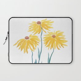 three yellow flowers Laptop Sleeve
