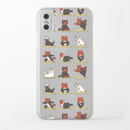 Yorkshire Terrier Yoga Clear iPhone Case