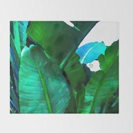 Tropical paradise Throw Blanket