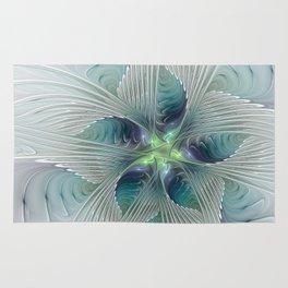 A Floral Fantasy, Abstract Fractal Art Rug