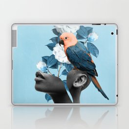 Girl with parrot Laptop & iPad Skin
