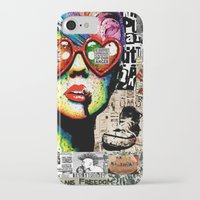 punk rock iPhone & iPod Cases featuring Punk Rock poster by Mira C