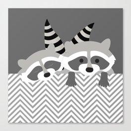 Raccoons Canvas Print