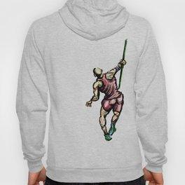 Javelin Throw Athlete Original Digital Drawing Hoody