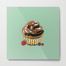 Chocolate Glaze Cupcake Metal Print
