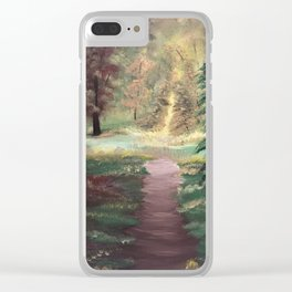 Warm Autumn day Clear iPhone Case
