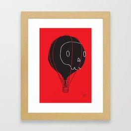 Hot Air Balloon Skull Framed Art Print