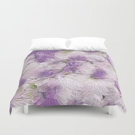 Purple - Lavender Fluffy Floral Abstract Duvet Cover