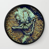 donald duck Wall Clocks featuring Donald Duck by DisPrints