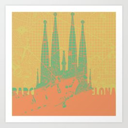 Holly Family Barcelona Art Print
