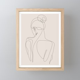 dissol - one line art - pastel Framed Mini Art Print