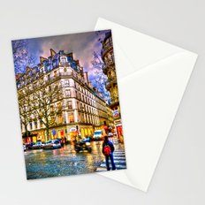Rainy evening in Paris, France Stationery Cards