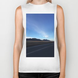 Mountain Sunset Shadow Biker Tank