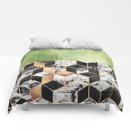 Birch Tree Cubes Comforters