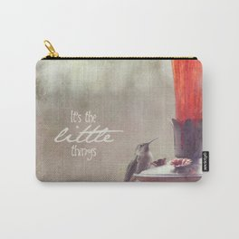 It's The Little Things Carry-All Pouch