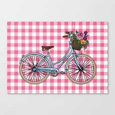 Her Bicycle Canvas Print