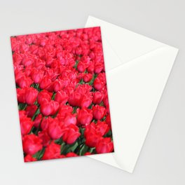Carpet of Crimson Tulips Stationery Cards