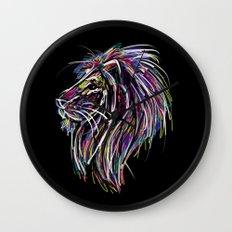 Neon Glow Lion (He)art Wall Clock