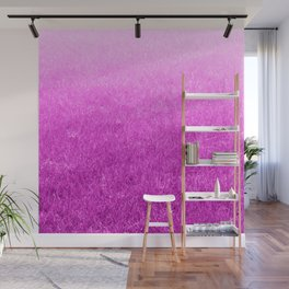 Light-to-Dark Pink Ombre Gradient Grass Wall Mural