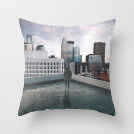 Minneapolis Minnesota Skyline Views Throw Pillow