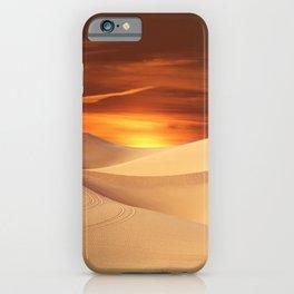 The Sunset On Desert iPhone Case