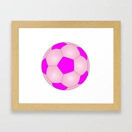 Pink And White Football Framed Art Print