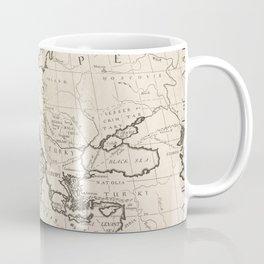 Vintage Map of Europe (1700) Coffee Mug
