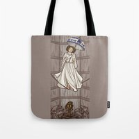 the mortal instruments Tote Bags featuring Leia's Corruptible Mortal State by Karen Hallion Illustrations