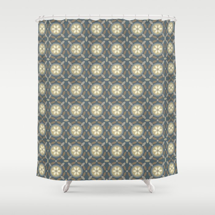 Round And Slate Shower Curtain