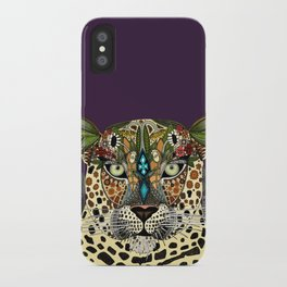 leopard queen iPhone Case