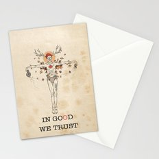 In good we trust Stationery Cards
