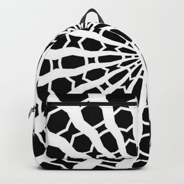 Black and White Bold Kaleidoscope Backpack