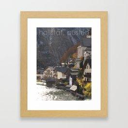 hallstat, austria Framed Art Print