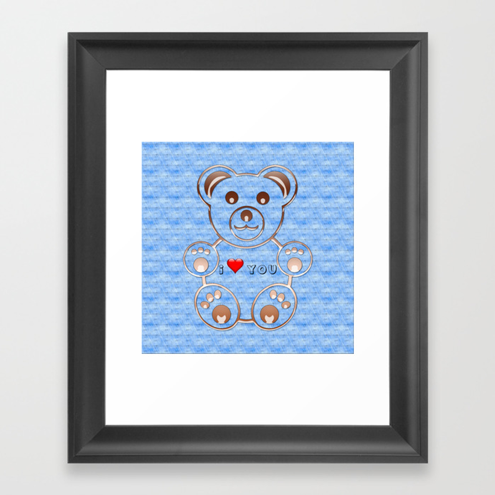Teddy Bear I Love You Framed Art Print by Cesartorres FRM8414416
