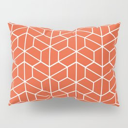 Red hexagons Pillow Sham