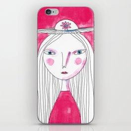 Hat Girl iPhone Skin