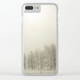 Winter 4 Clear iPhone Case