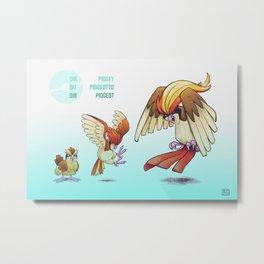 Pokevolution 016-018 Metal Print