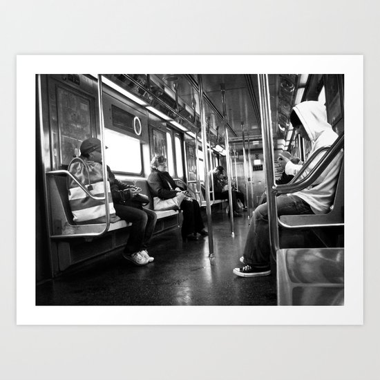 Riding the Subway Art Print