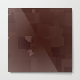 Fudgesickle Square Pixel Color Accent Metal Print