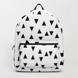 Triangles black and white modern design Backpack