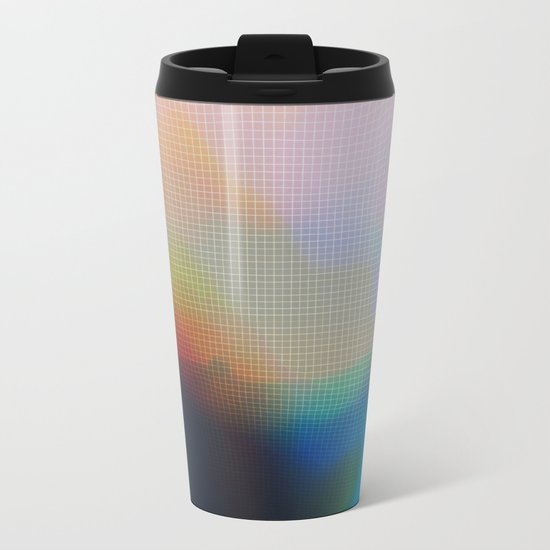 Glitch 07 Metal Travel Mug