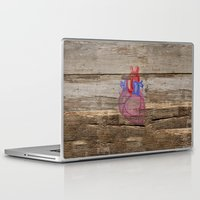 anatomical heart Laptop & iPad Skins featuring Anatomical Heart by Kyle Phillips