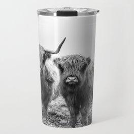 Highland Cow & Calf Travel Mug