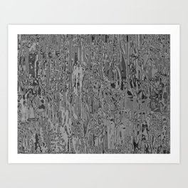 Metallia Grey Art Print