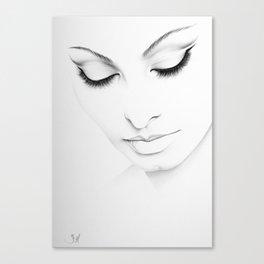 Sophia Loren Minimal Portrait Canvas Print