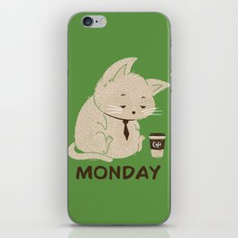 Monday Cat iPhone Skin
